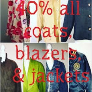 Other - 40% off all coats, jackets & blazer.